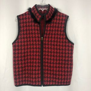 TALLY-HO Womens Boiled Wool Vest Vintage